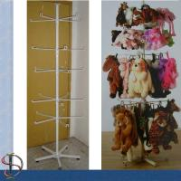 China Metal Display Rack with hooks for brand gifts / White TOY PET CARRIER / Spinner Rack for plush toys / POP display stand on sale