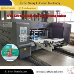 China PLC Control Multi Color Flexographic Box Printing Machine 320mm Printing Width on sale