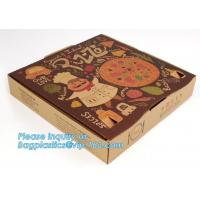 China Hot Sale cheap paper pizza box ,Printed carton pizza box, Wholesale custom Corrugated paper Pizza box / pizza packing bo on sale