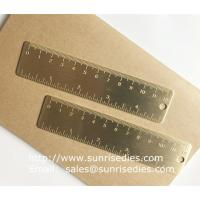 Buy cheap Solid brass bookmark ruler with graduation, vintage brass mini ruler with scale mark product