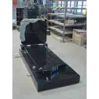 Buy cheap Belgium Style Granite Memorial Headstones , Black Granite Gravestones Customized product