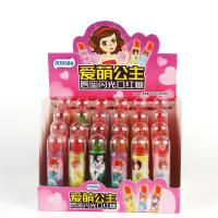 China Healthy Sugar free candy Lipstick shape lollipop Flashlight lighting lipstick toy candy on sale