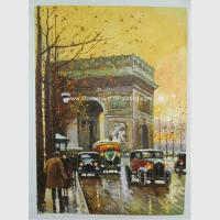 Buy cheap Contemporary Paris Street Scene Oil Painting Arc De Triomphe On Canvas from wholesalers