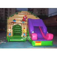 Buy cheap Commercial backyard jungle theme kids inflatable jumping castle with slide made of best pvc tarpaulin product