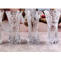 Buy cheap Stock Flower Decorative Glass Vases / Transparent Small Coloured Glass Vases product