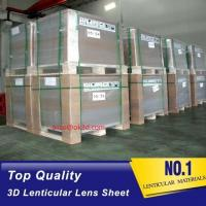 Quality The most thinnest PET lenticular sheet len 51x71cm, 0.35mm 3D Lenticular film for sale