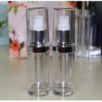 China Personal Care Cosmetic Round Plastic Acrylic Straight Round 50ml Airless Bottle on sale