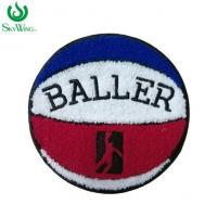 Buy cheap Durable Basketball Chenille Sports Patches For Letterman Jackets Soft Edge product