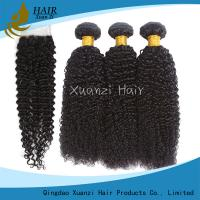 Buy cheap 100% Strength Human Hair Weave Bundles No Split With Machine Double Weft from wholesalers