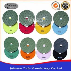 Buy cheap High Efficiency 4 Inch Diamond Flexible Polishing Pad 1.1mm Thickness product