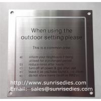Buy cheap Stainless steel warning plates, enamel stainless steel warning plaque with screw holes product