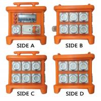 Buy cheap MK1 Portable Power Distribution System Rubber Box Orange Outdoor Distribution Board Stackable from wholesalers