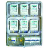 China Plastic transparent single phase meter box for 2 flats on sale