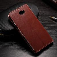 Buy cheap Flexible Huawei Y6 Leather Case , Anti - Slip Crazy Horse Leather Wallet Case product