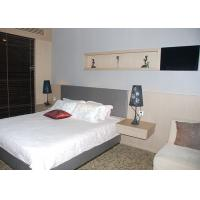 Buy cheap Wooden Commercial Hotel Furniture , Hotel Room Furniture With Floating Side Table product
