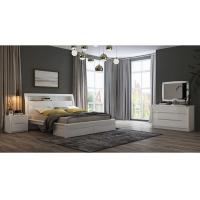 Buy cheap White High Gloss Bedroom Furniture / King Bed Headborad with Flap Door product