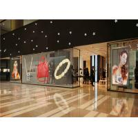 Buy cheap P3.91 - P7.82 Full Color Transparent Video Glass Screen For Shop Window product