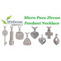 Buy cheap Micro pave zircon pendant necklace product