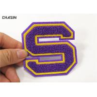Buy cheap Double Felt Alphabet Letters Chenille Style Patches And Iron - On Backing product
