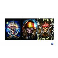 Buy cheap Flip Lenticular 3D Posters With Skull Designs / Lenticular Photo Printing product