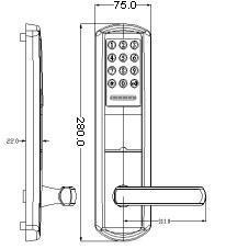 Buy cheap Card Open Painted 38mm 50mm Smart Door Lock product