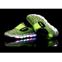 Buy cheap Green Microfiber Upper Kids Sport Shoes LED Light Up Casual Kids LED Shoes from wholesalers