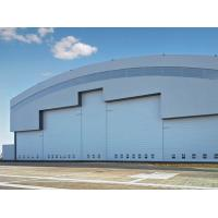 Quality Prefab Curve Roofing System Steel Aircraft Hangars With Electrical Slide Doors for sale