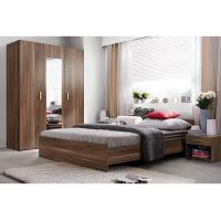 Buy cheap Modern E1 MDF Smooth Melamine Bedroom Furniture King and Queen Size product