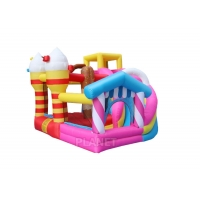 Buy cheap Small Outdoor Kids Inflatable Bouncer Slide Candy Inflatable Slide Jumping Castle Combo Bounce House For Home Use product