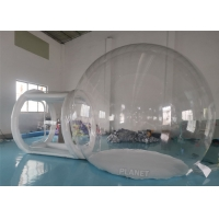 Buy cheap 4m Diameter Big Transparent Camping Clear Inflatable Advertising Dome Bubble Tent With Tunnel product