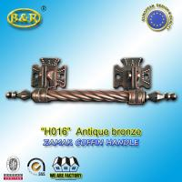 Quality Long Metal Coffin Barref H016 Coffin Handles Antique Bronze 30*7.5 Cm herrajes para ataudes for sale