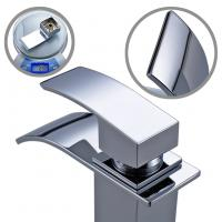 Buy cheap Zinc Alloy Handle Easy Install Trough Style Bathroom Faucet Polished Surface Treatment product