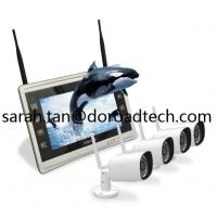 Quality Wireless Home Video Surveillance System 4CH 960P Wifi IP Cameras & NVR with 11 Inch Screen for sale