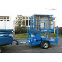 Buy cheap 8m Platform Height Electric Man Lift Trailer mobile aerial work platform product