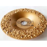 Buy cheap Gold Buffing Tungsten Carbide Grinding Disc For Roughing Rubber And Fabric product