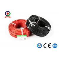 Quality TUV CE CQC Black and Red Single Core Solar Cable 4mm2 for solar power system for sale