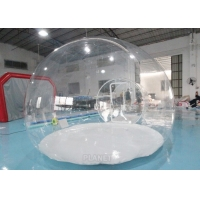 Buy cheap 0.8mm Transparent PVC + Steel Frame Custom Size Inflatable Clear Bubble Dome Tent product