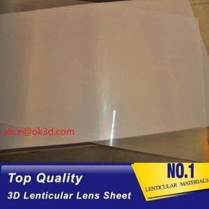 Buy cheap UV offset printing 3D Plastic Lenticular  lens material PET 0.25MM 16LPI lenticular sheet for 3D card UV offset printing product