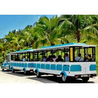 Buy cheap 72 Seat Tourist Train Rides For Adults / Trackless Toy Train 380V FRP Protective from wholesalers