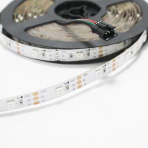 China Addressable 5050 RGB LED Strip 5V WS2812 WIFI Controller RGB Strip Light on sale