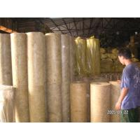 China Soundproofing Rockwool Pipe Insulation Material High Density on sale
