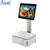 Buy cheap ARM-based Touch Scale With Best Price,Retail POS scale,Fiscal Cash Register product