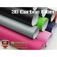 Buy cheap 3D Carbon Fiber Vinyl Wrapping Film bubble free 1.52*30m/roll - colors for choose product