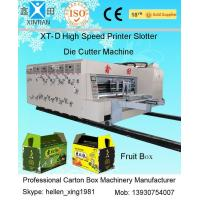 Buy cheap 4 Color Offset Flexo Printer Slotter Machine for Corrugated Box Printing from wholesalers
