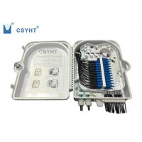 Buy cheap 24FO fiber optic termination  FTTH box for outdoor pole mounted loaded PLC splitter product