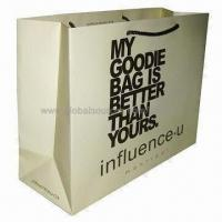 Buy cheap Paper gift bag with offset printing, eco-friendly product
