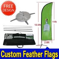Buy cheap Teardrop / Feather Flags Banner With 2.3kg Cross Base + Water Bag product