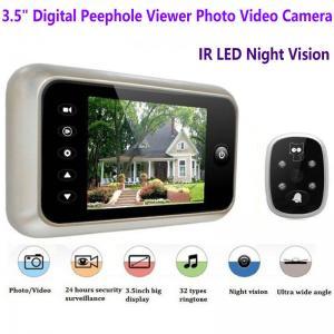 Buy cheap 3.5 inch Screen Digital Door Peephole Viewer Camera 120 Degree Wide Angle Video Doorbell Phone Door Eye IR Night Vision product