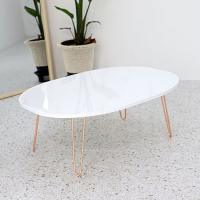 Buy cheap Adjustable base with marble color pvc film pressed wood table top MDF laminated product