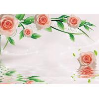 Buy cheap Green Healthy Livable Bamboo Fiber Board / Flower Rose Fiber Wall Panels Easy Install product